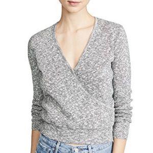 Madewell v neck heather sweater